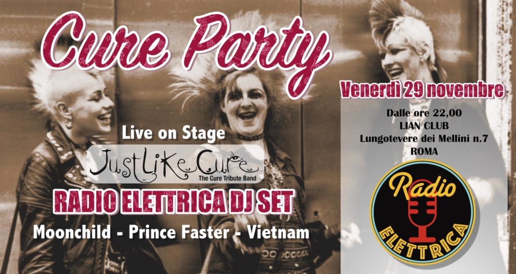 radio elettrica cure party 29 novembre 2019 lian roma