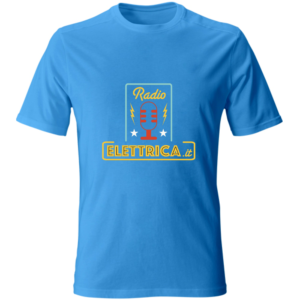 T-Shirt Io ascolto Radio Elettrica (fronte : retro) azzurra (unisex)