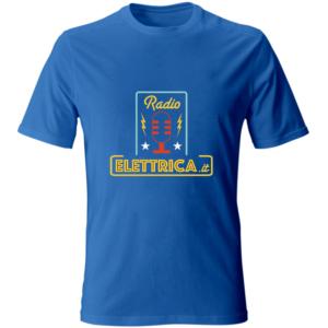 T-Shirt Io ascolto Radio Elettrica (fronte : retro) blu navy (unisex)